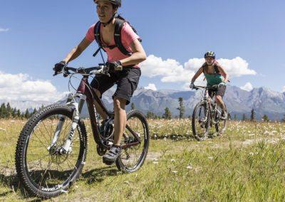 Mountain biking in Banff