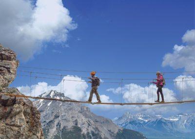 Mt Norquay's Via Ferrata rock climbing trail