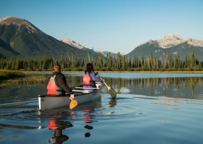 Couple Canoeing in Banff